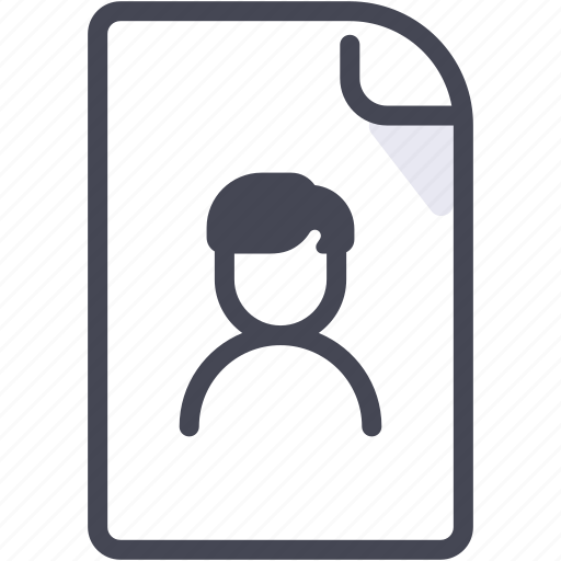 data, document, file, identity, paper icon