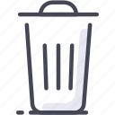 dump, office, rubbish, trash, trash can icon