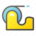 business, duck, equipment, office, tape icon
