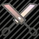 business, cut, equipment, office, scissor, scissors icon