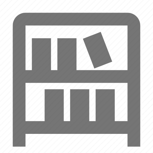 archive, books, library, office, shelf, stationery, supplies, tool icon