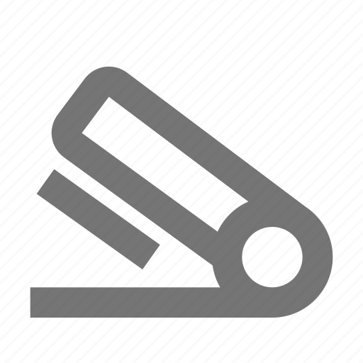 attach, clip, desk, office, stapler, stationery, supplies, tool icon