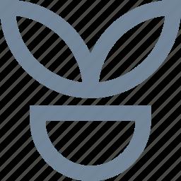 flower, line, plant, vegetation icon