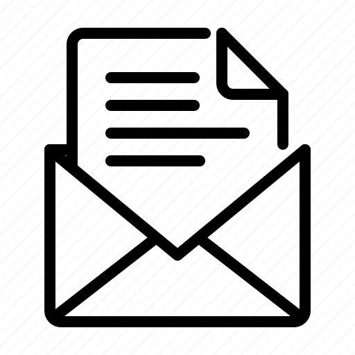 document, email, envelope, letter, mail, office, paper icon