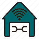garage, internet, of, thing icon