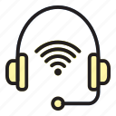 headset, internet, of, thing icon