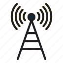 internet, of, thing, tower icon