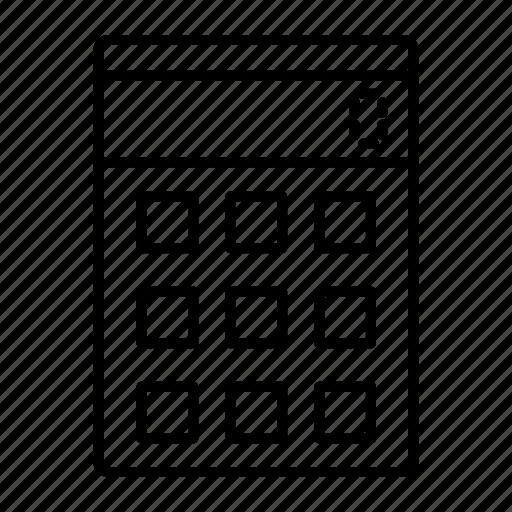 adding, calculation, computing, estimation, machine icon