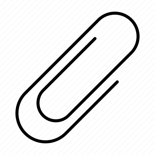 letter, note, paper, paperclip icon