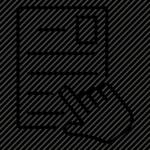 cv, letter, resume, sending icon