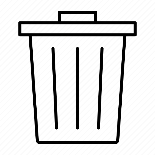 garbage, recycle bin, trash can, trashcan icon