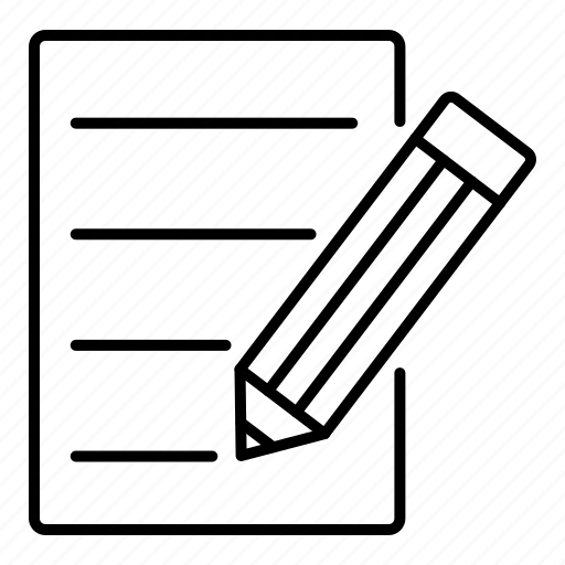 letter, paper, pen, pencil, writing icon