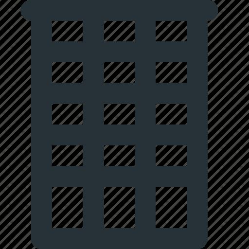 architecture, block, building, office, skyscraper icon