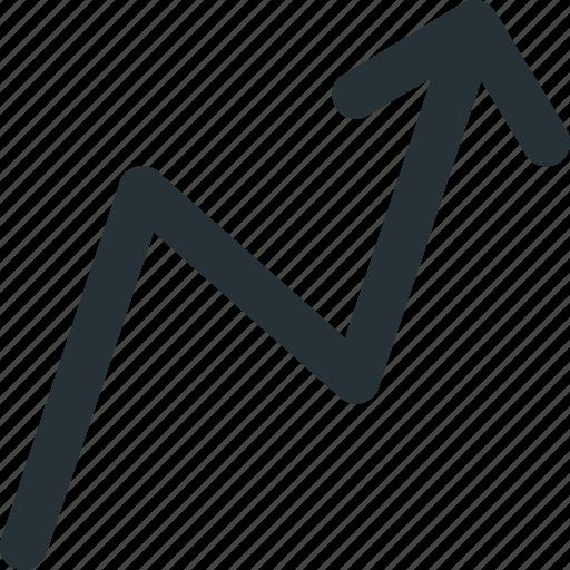arrow, business, profit, progress, up icon