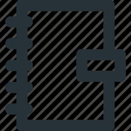 agenda, notebook, notes, organiser, spiral icon