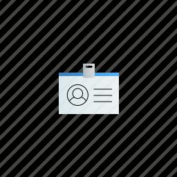 badge, horizontal icon
