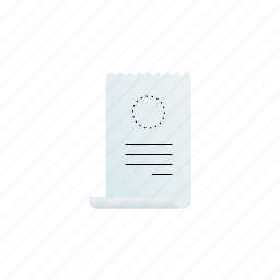 billing, corner, curved, receipt, with icon