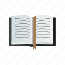 book, bookmarklet, opened, with icon