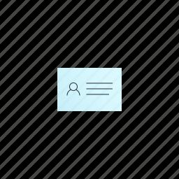 business, card, horizontal icon