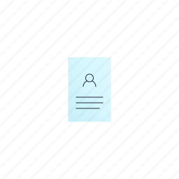 business, card, vertical icon