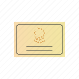 certificate, horizontal icon