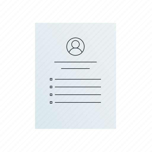 document, resume icon