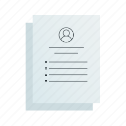 documents, resume icon