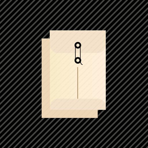cascade, envelopes, string, with icon