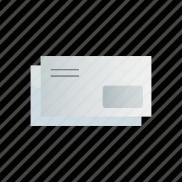 envelopes, window, with icon
