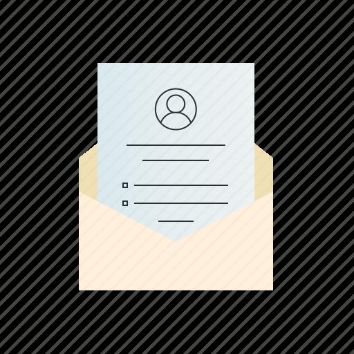 document, letter, resume icon