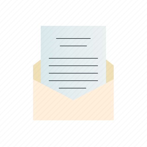 document, letter, text icon