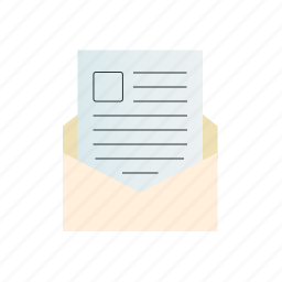 document, letter, picture, text, with icon