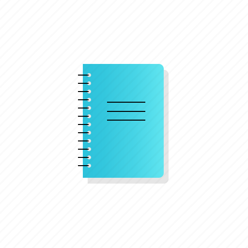 notepad, spring, with icon