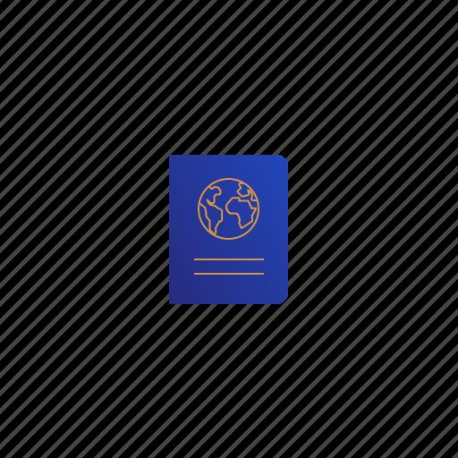 earth, globe, passport, planet, world icon