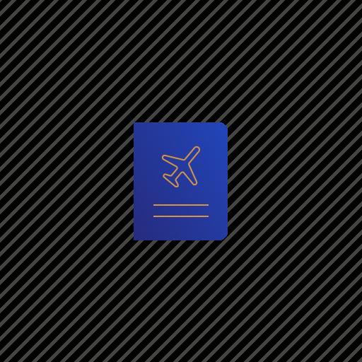 flight, journey, passport, travel icon