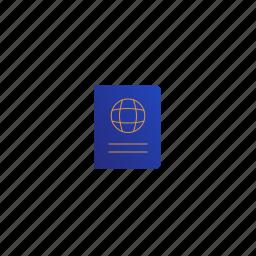 global, globe, passport, planet, travel icon