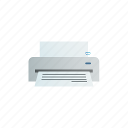 printer, wifi, wireless icon