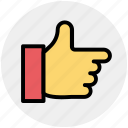 hand, like, right, thumb, thumbs up icon