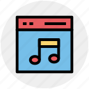 music, music page, site, web, web page, web site icon