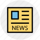 media, news, news article, news blog, newspaper icon