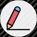 dairy and pencil, notepad, dairy, steno pad, log pad, writing pad icon