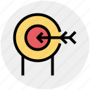 bulls eye, crosshair, dartboard, goal, target icon