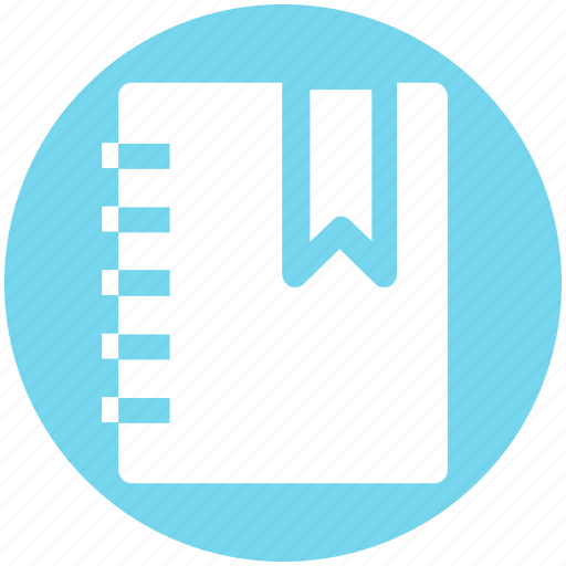 Book, bookmark, document, education, recipe icon - Download on Iconfinder