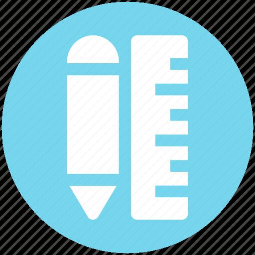 measure, pen, pencil, pencil and ruler, ruler icon