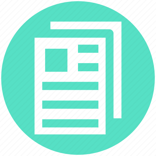 banking, contract, documents, files, papers, sheets icon