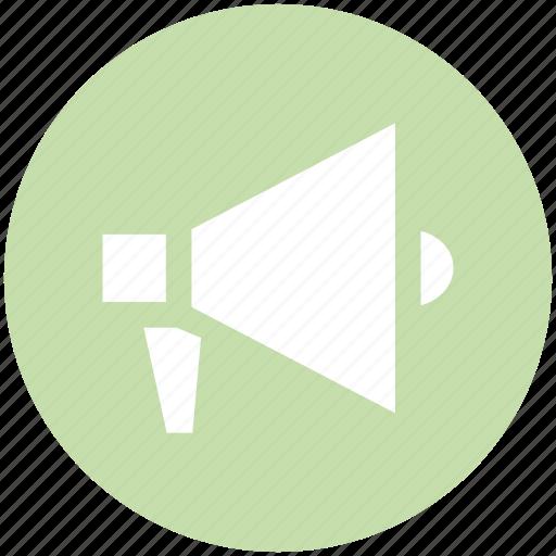 Announcement, bullhorn, loud hailer, megaphone, speaking trumpet icon - Download on Iconfinder