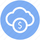cash, coins stack, currency coins, dollar coins, dollar sign, money icon