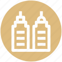 apartments, bank, buildings, center, hotel, office icon
