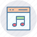 music, music page, site, web, web page, web site icon