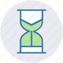 hourglass, initializing, sand clock, sand timer, sand watch, working icon